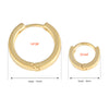 8 mm_ Plain Huggie Hoop Earrings 14K Gold Plated