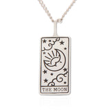 Tarot Card Necklace Moon, 21