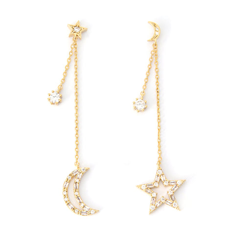 Star Constellation Ear Climber Earrings