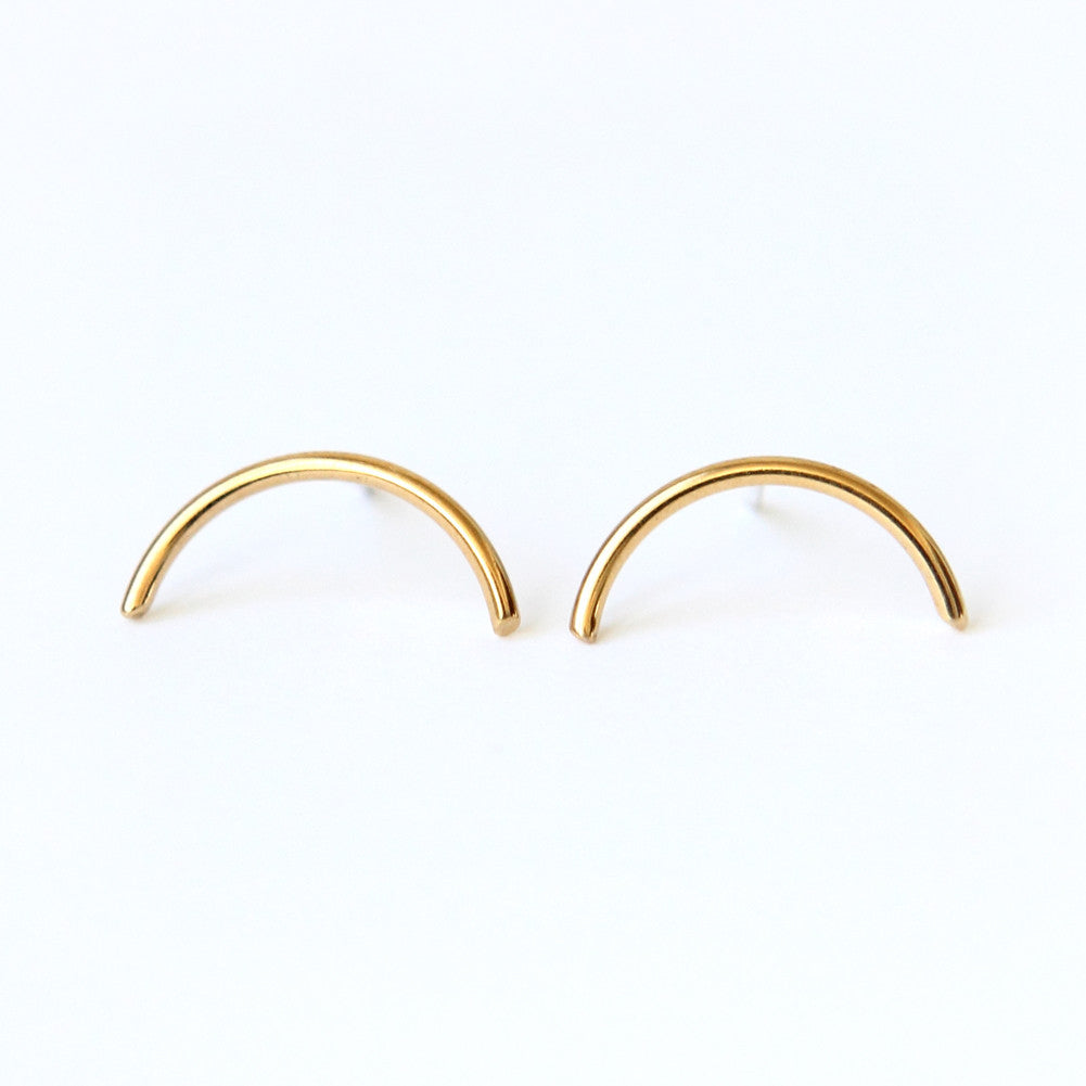Semicircle Studs 925 sterling silver