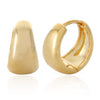 13MM_Thick Huggie Bold Cuff Earrings Small Hoop Earrings