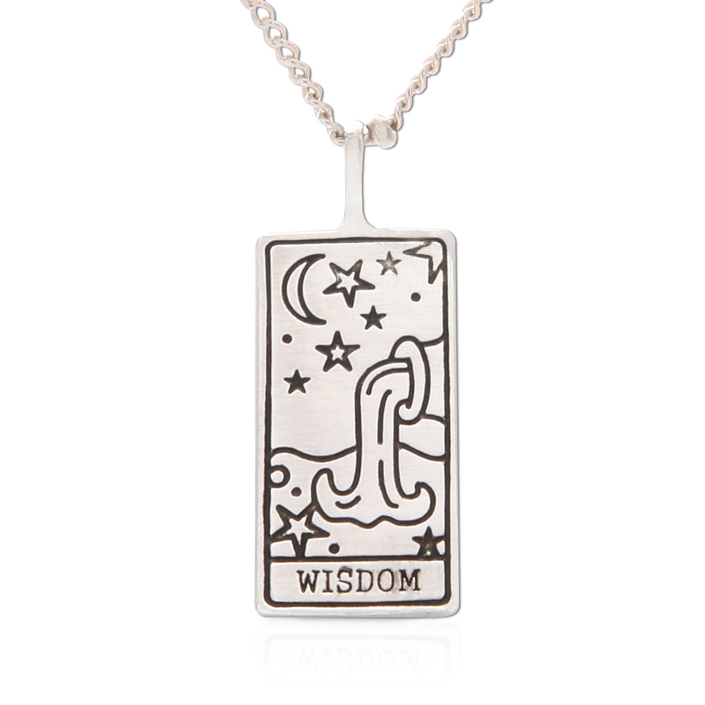 Copy of Tarot Card Necklace Wisdom, 21""