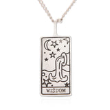 Copy of Tarot Card Necklace Wisdom, 21