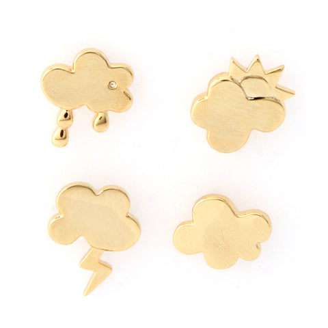2 Tone Lion Earrings