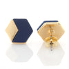 Geometric Hexagon Leather Earrings