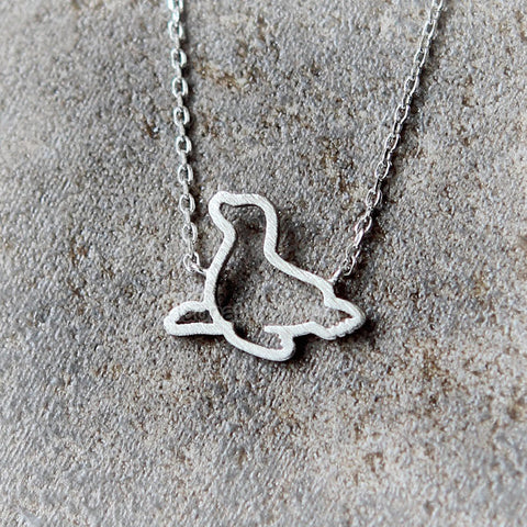 2 Tone Penguin Necklace