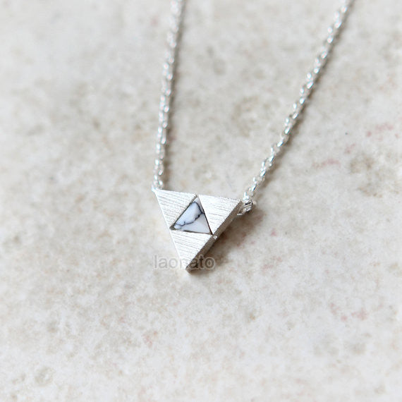 Tri Force Necklace with howlite