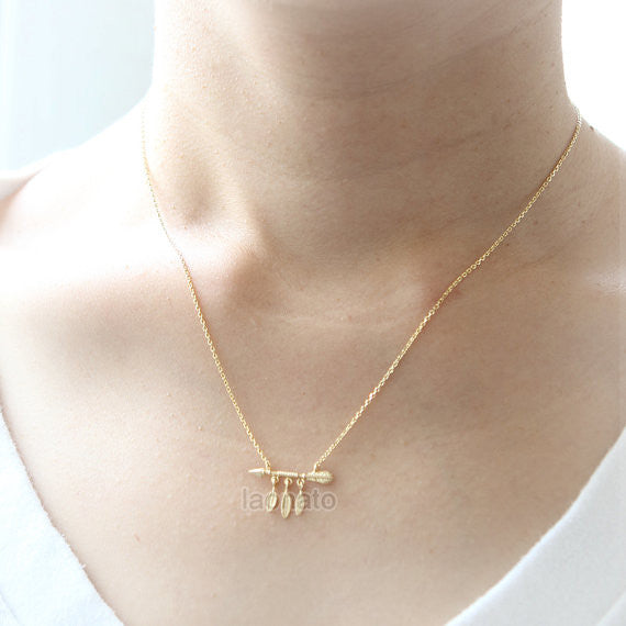 Arrow and Feathers Necklace
