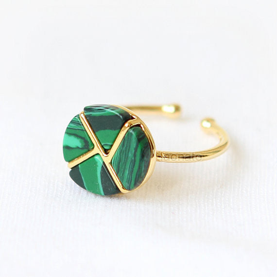 Malachite Circle Ring