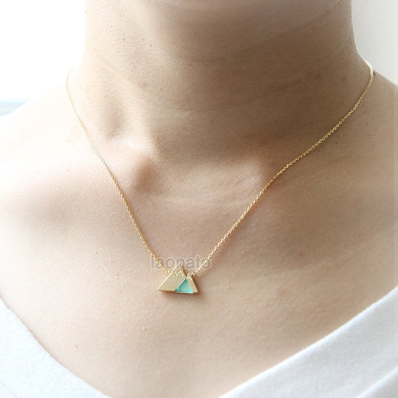 Mountain Necklace with stone