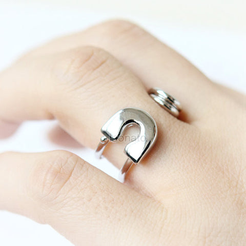 925 sterling silver Fox ring
