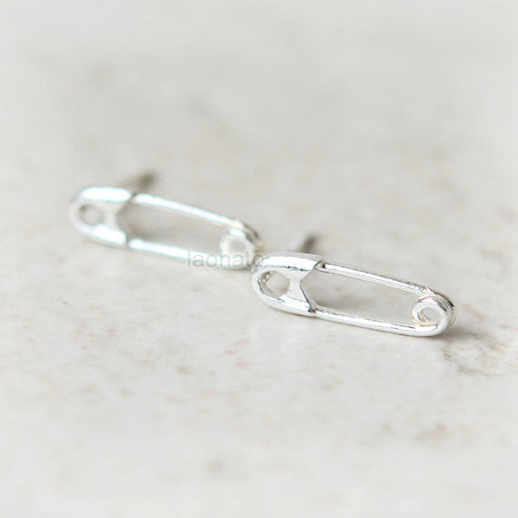Safety Pin Earrings in 925 sterling silver