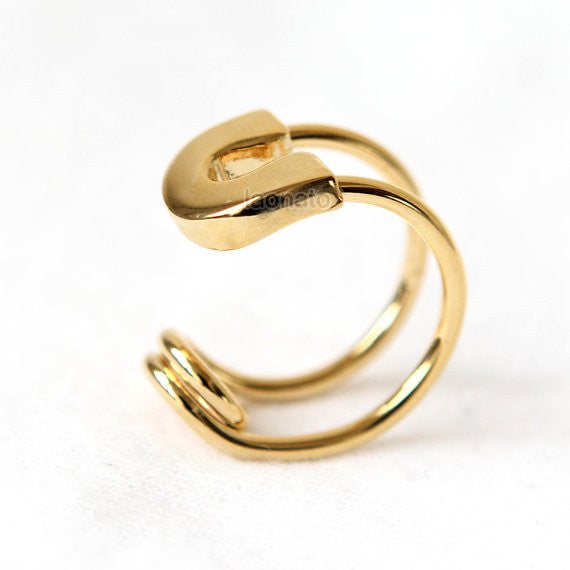 Bold Safety Pin Ring