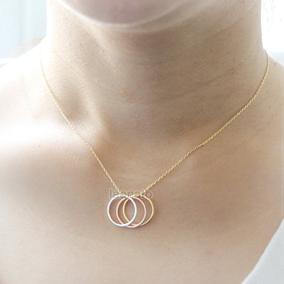 Three Open Circles Necklace