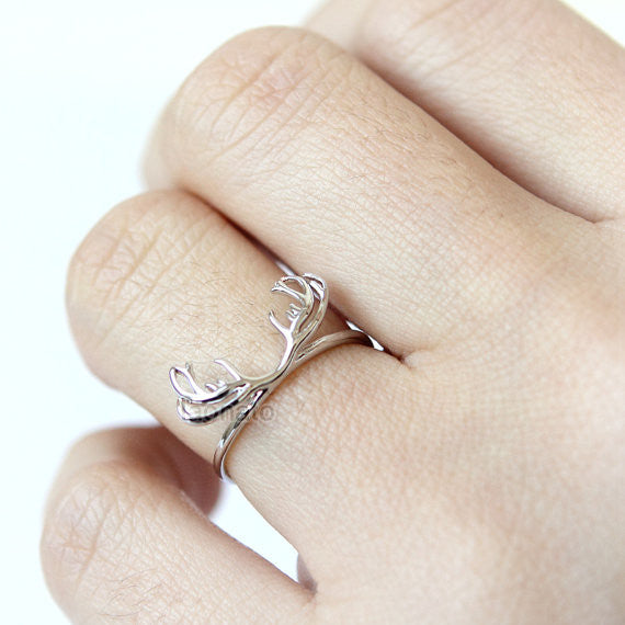 N001 Deer Antler Ring