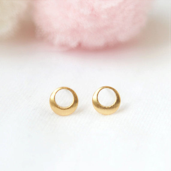 Tiny Hollow Circle Earrings