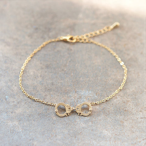 Crystal Open Heart Bracelet in gold