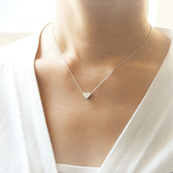 Back to the Basic- Heart Necklace in silver