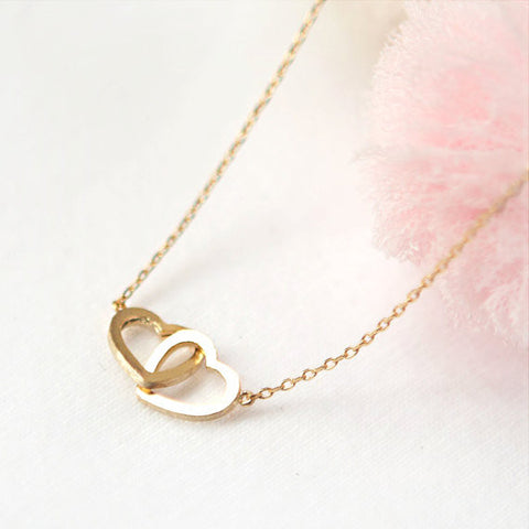 Heart Disc pendant necklace