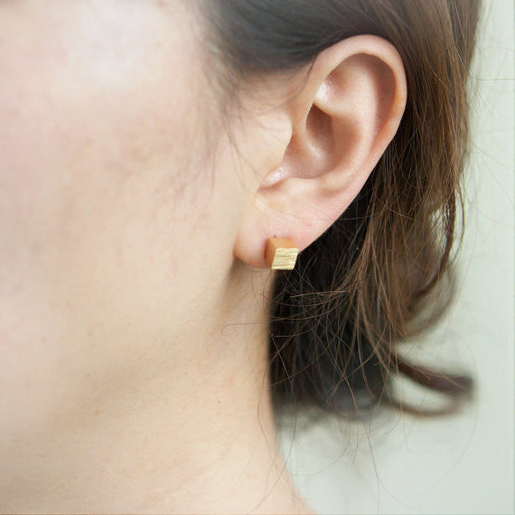 Simple Cube earrings