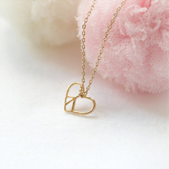 Heart Peace Sign Necklace