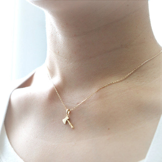 Lovely AXE Necklace in gold