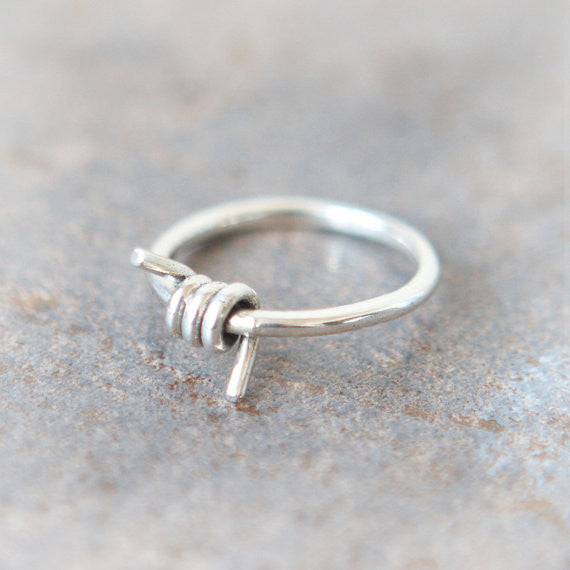 Wrapped Wire Ring in sterling silver