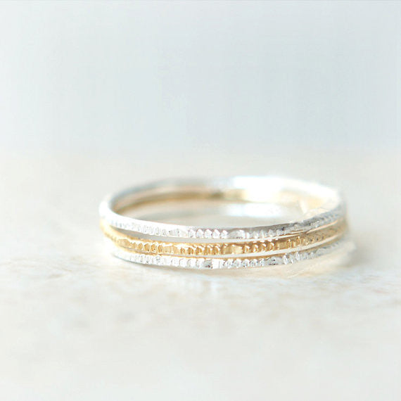 Set of 3 Skinny rings