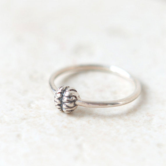 Brain ring in sterling silver