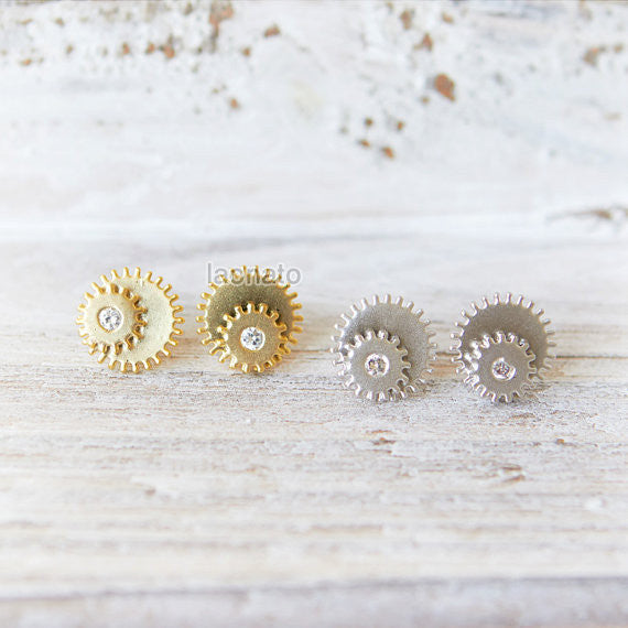 Cog wheel Earrings