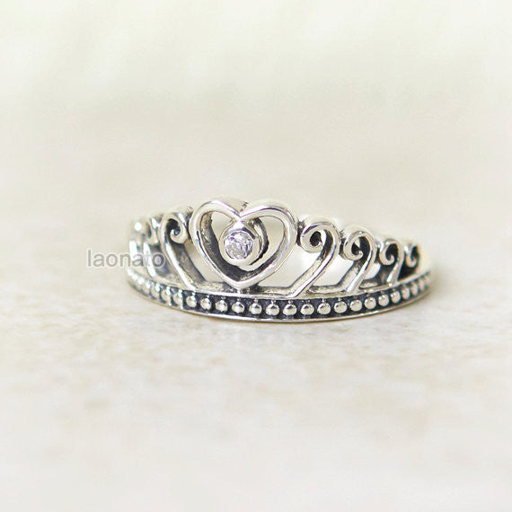 Heart Tiara Sterling silver Ring