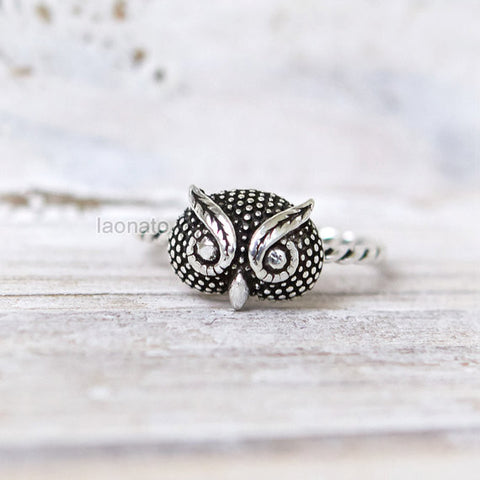Flower and CZ Leaf Ring