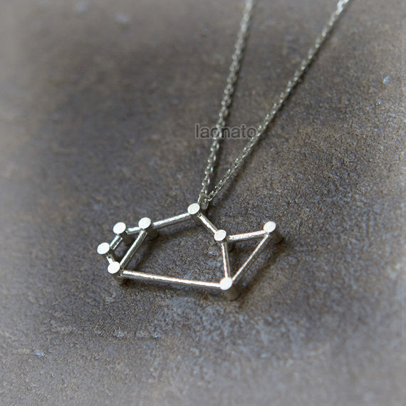 Sagittarius Zodiac Sign Necklace in sterling silver