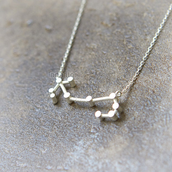 Scorpio Zodiac Sign Necklace in sterling silver