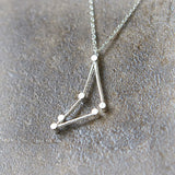 Capricorn Zodiac Sign Necklace in sterling silver
