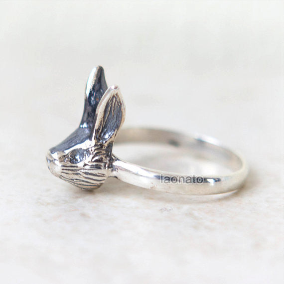 Rabbit Ring in sterling silver