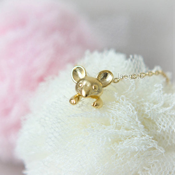 Tiny Mouse Necklace