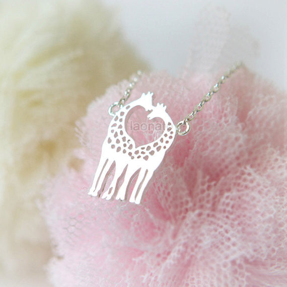 Twin Giraffe Necklace