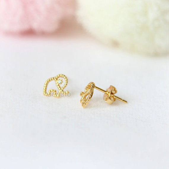 Dotted Elephant Earrings