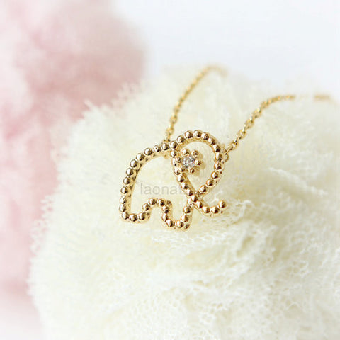 Gold Sugar Pretzel Necklace