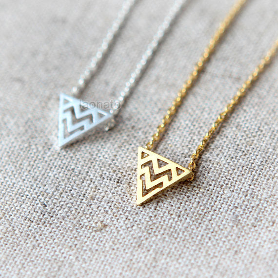Zigzag Triangle Necklace