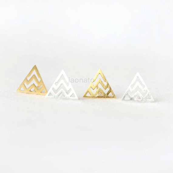 Zigzag Triangle Earrings