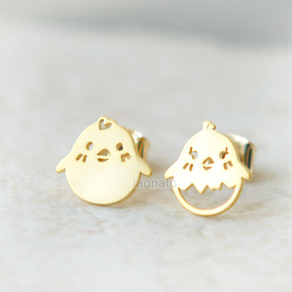 Cute Chick Earrings, Easter Chick