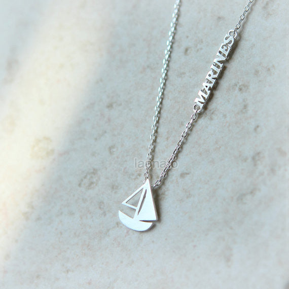 Sail Boat and Marines necklace