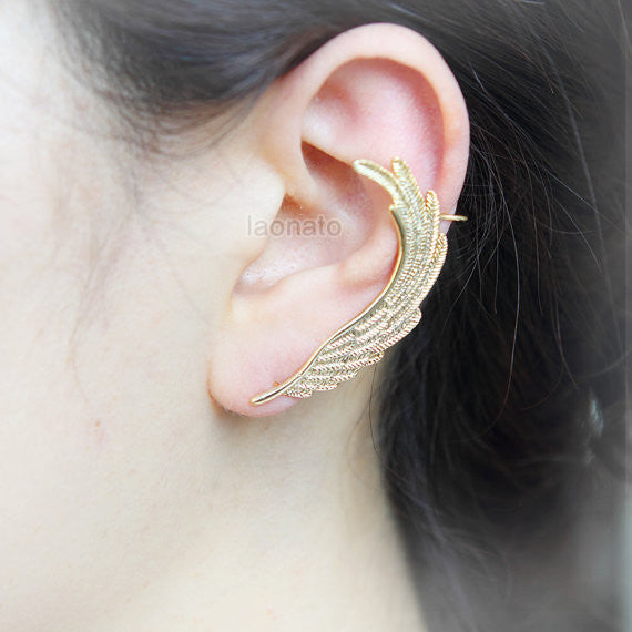 N02 Angel Wing ear cuff earring