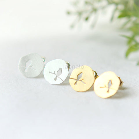Origami Swan Earrings