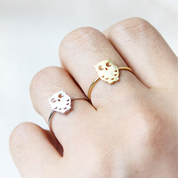 Cute Owl Ring, adjustable ring