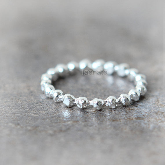 Sterling silver Nuggets Ring