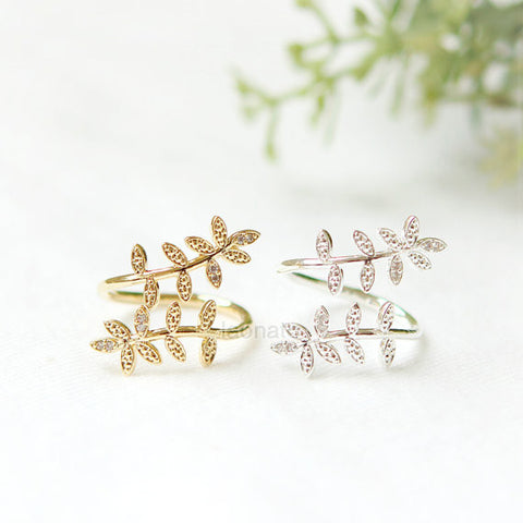 Leaf Ear Climber, pin earrings