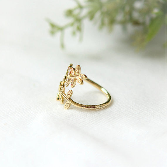 Laurel Leaf ring